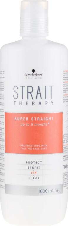 Mleczko neutralizujące - Schwarzkopf Professional Strait Therapy Neutralising Milk — фото N1