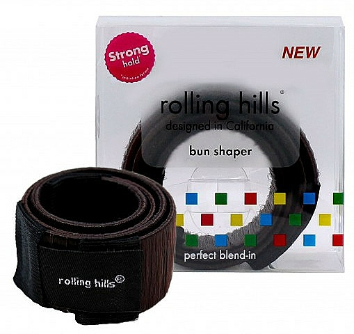 Spinka do tworzenia koka - Rolling Hills Bun Shaper Brown — фото N1