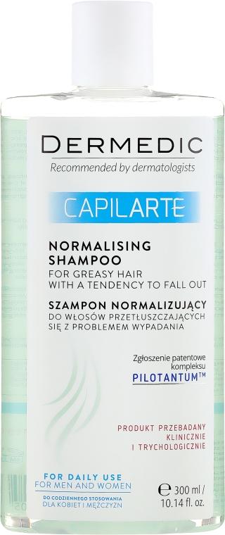 Normalizujący szampon do włosów przetłuszczających się z problemem wypadania - Dermedic Capilarte