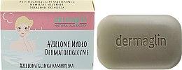 Kup Mydło dermatologiczne do skóry wrażliwej Zielona glinka kambryjska + len - Dermaglin