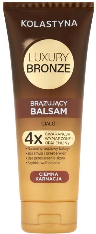 Brązujący balsam do ciała Ciemna karnacja - Kolastyna Luxury Bronze Tanning Balm