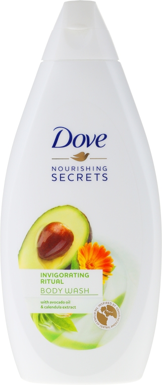 Żel pod prysznic Olej z awokado i ekstrakt z nagietka - Dove Nourishing Secrets Invigorating Shower Gel