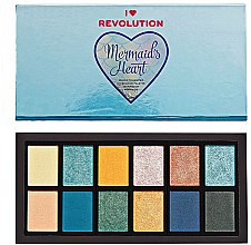 Kup Paleta cieni do powiek - Makeup Revolution Mermaid's Heart Eyeshadow Palette