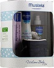 Kup Zestaw - Mustela Welcome Baby Set Blue (b/gel/200ml + b/cr/50ml + b/oil/100ml + case)