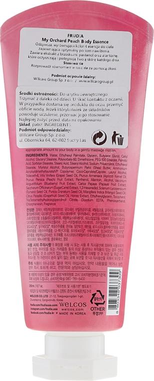 Odżywcze mleczko do ciała o zapachu brzoskwini - Frudia My Orchard Peach Body Essence — фото N2