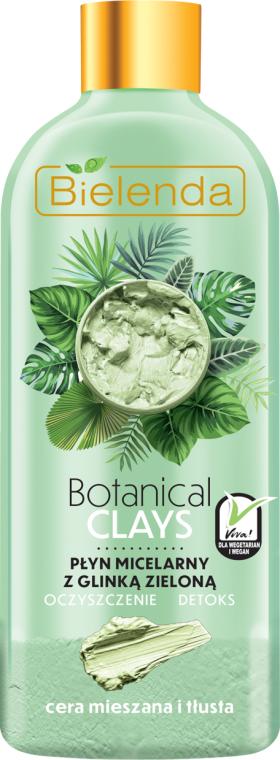 Płyn micelarny z glinką zieloną do cery mieszanej i tłustej Oczyszczenie i detoks - Bielenda Botanical Clays