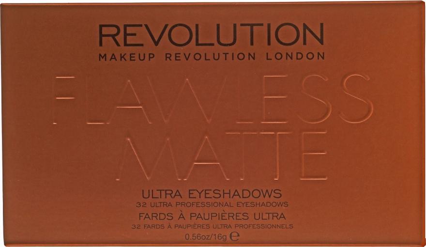 Paleta cieni do powiek - Makeup Revolution Flawless Matte Ultra Eyeshadows — фото N2