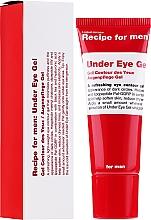 Żel pod oczy dla mężczyzn - Recipe For Men Under Eye Gel — фото N2