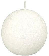 Kup Świeca dekoracyjna, biała kula, 8 cm - Artman Glamour