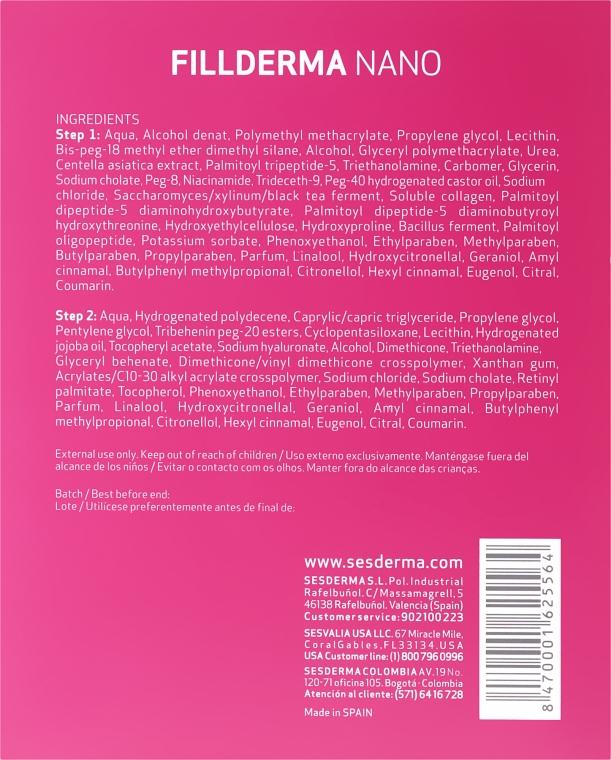 Kuracja wypełniająca zmarszczki - SesDerma Laboratories Fillderma nano Wrinkle Filling System — фото N3