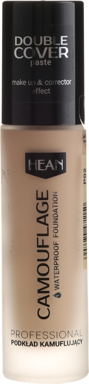 Kryjący podkład wodoodporny - Hean Double Cover Camouflage Waterproof Foundation — фото N1