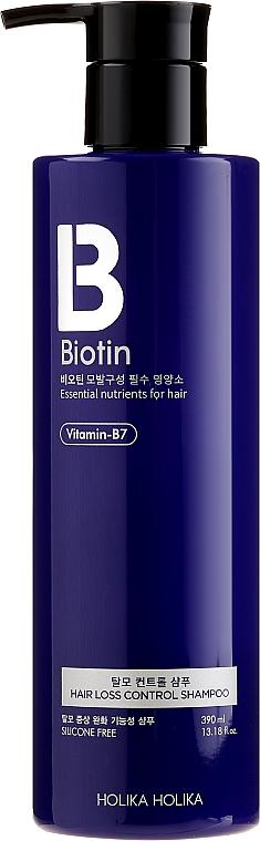 Przeciwłupieżowy szampon z biotyną przeciw wypadaniu włosów - Holika Holika Biotin Hair Loss Control Shampoo — фото N1