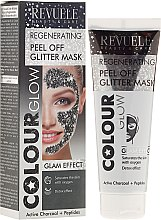 Kup Regenerująca brokatowa maska peel-off do twarzy - Revuele Color Glow Regenerating Peel Off Glitter Mask