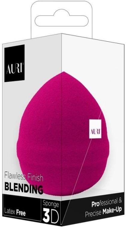Gąbka do makijażu, różowa - Auri Flawless Finish Blending Sponge 3D  — фото N1