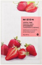 Kup Złuszczająca maska na tkaninie do twarzy Truskawka - Mizon Joyful Time Essence Mask Strawberry