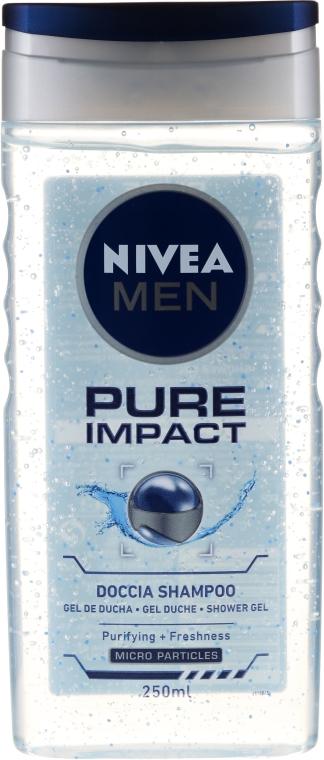 Odświeżający szampon-żel pod prysznic dla mężczyzn - Nivea Men Pure Impact Shower Gel — фото N1