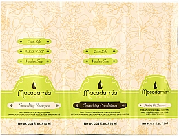 Kup Zestaw - Macadamia Smoothing Trio Packette (shmp 10 ml + cond 10 ml + h/oil 5 ml)