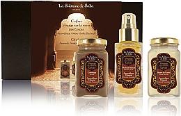 Kup La Sultane de Saba Ayurvedique Ambre Vanille Patchouli - Zestaw (b/oil 50 ml + b/butter 100 ml + b/scrub 100 ml)