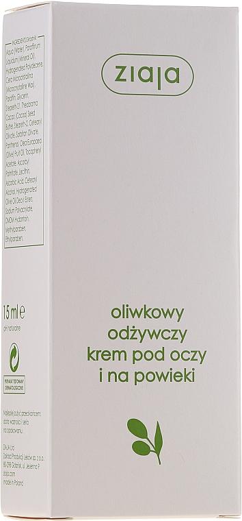 Naturalny oliwkowy krem odżywczy pod oczy i na powieki - Ziaja Oliwkowa