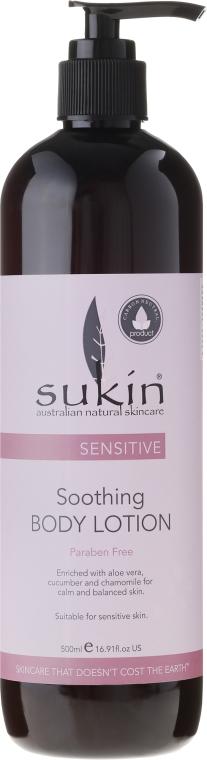 Kojący balsam do ciała - Sukin Sensitive Soothing Body Lotion — фото N1