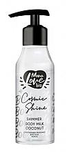 Kup Kokosowe mleczko do ciała ze świecącymi drobinkami - MonoLove Bio Shimmer Body Milk Coconut Cosmic Shine