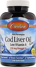 Kup Olej z wątroby dorsza w żelowych kapsułkach - Carlson Labs Cod Liver Oil Gems
