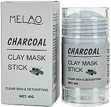 Kup Glinkowa maska w sztyfcie do twarzy Węgiel - Melao Charcoal Clay Mask Stick