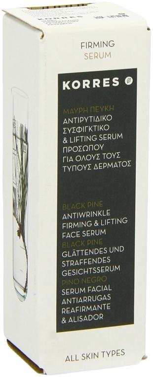 Przeciwzmarszczkowe serum do twarzy - Korres Black Pine Antiwrinkle, Firming & Lifting Serum — фото N4