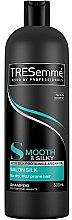 Kup Wygładzający szampon do włosów z proteinami jedwabiu i olejem arganowym - Tresemme Smooth & Silk Shampoo