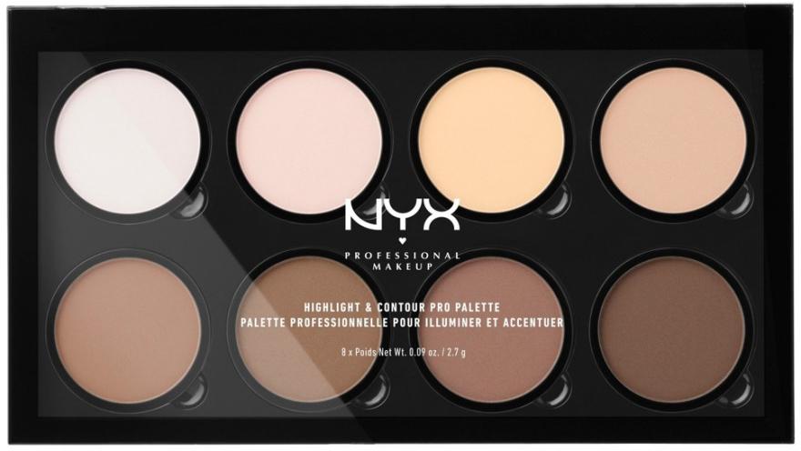 Paletka do konturowania twarzy - NYX Professional Makeup Highlight & Contour Pro Palette