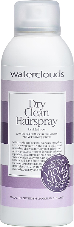 Suchy szampon - Waterclouds Dry Clean Violet Silver — фото N1