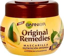 Kup Intensywna maska do włosów kręconych z awokado - Garnier Original Remedies Intense Nutrition Anti-frizz Mask