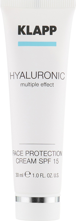 Nawilżający krem do twarzy z kwasem hialuronowym SPF 15 - Klapp Cosmetics Hyaluronic Face Protection — фото N2