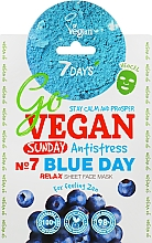 Kup Antystresowa maseczka do twarzy z ekstraktem z jagód - 7 Days Go Vegan Sunday Blue Day