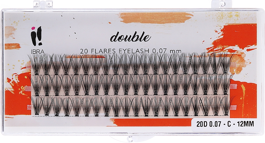 Kępki rzęs - Ibra 20 Flares Eyelash Knot-Free Naturals C 12 mm