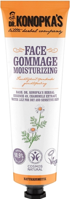 Nawilżający peeling gommage do twarzy - Dr. Konopka's Face Moisturizing Gommage