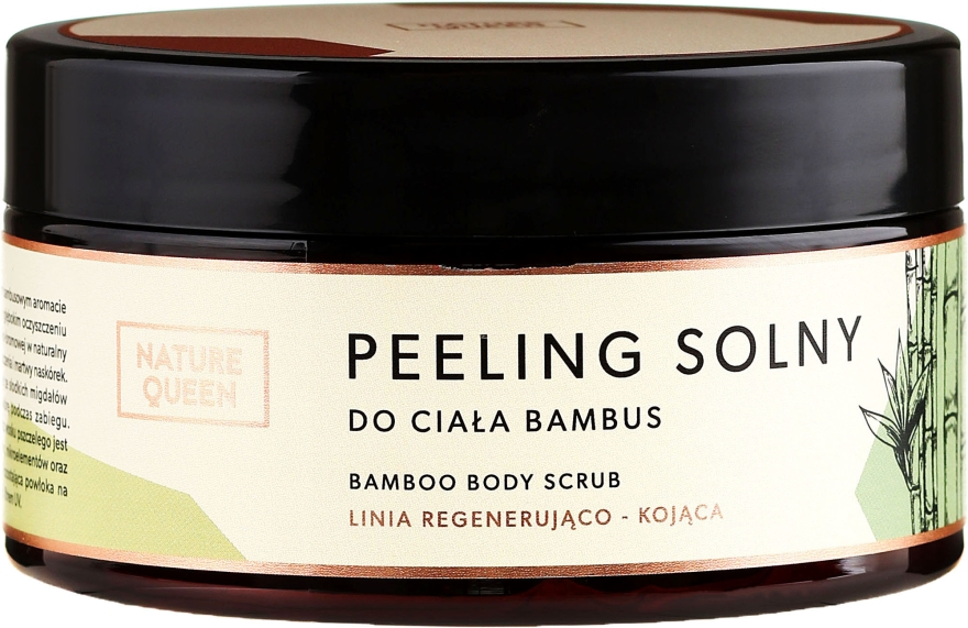 Peeling solny do ciała Bambus - Nature Queen Linia regenerująco-kojąca