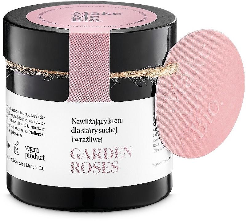 Nawilżający krem do skóry suchej i wrażliwej - Make Me Bio Garden Roses
