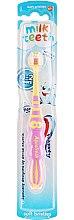 Kup Miękka szczoteczka do zębów dla dzieci 0-2 lat Mój pierwszy ząbek, żółto-różowa - Aquafresh Milk Teeth
