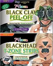 Kup Maska z czarnej glinki, paski na nos, brodę i czoło - 7th Heaven Charcoal Duo Black Clay Peel Off