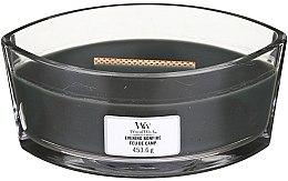 Świeca zapachowa w szkle - Woodwick Hearthwick Flame Ellipse Candle Evening Bonfire — фото N1