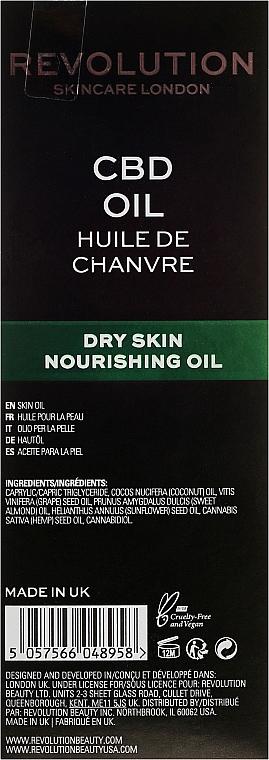 Odżywczy olejek kondycjonujący do twarzy - Revolution Skincare Nourishing CBD Oil — фото N3
