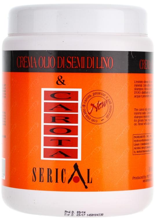 Kremowa maska do włosów z ekstraktem z marchwi i siemienia lnianego - Pettenon Cosmetics Serical Carrot And Linseed Oil Cream