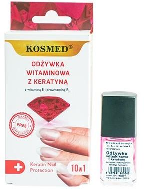 Odżywka witaminowa z keratyną do paznokci - Kosmed Colagen Nail Protection 10in1