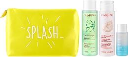 Zestaw - Clarins Perfect Cleansing Splash Set Oily Skin (milk 200 ml + lotion 200 ml + makeup/remov 30 ml + bag) — фото N2