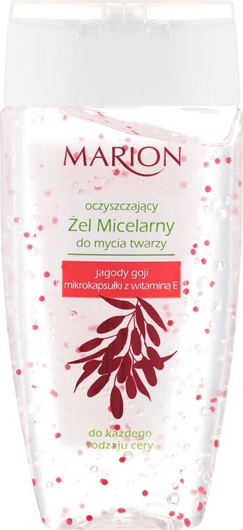 Oczyszczający żel micelarny do mycia twarzy Jagody goji i mikrokapsułki z witaminą E - Marion
