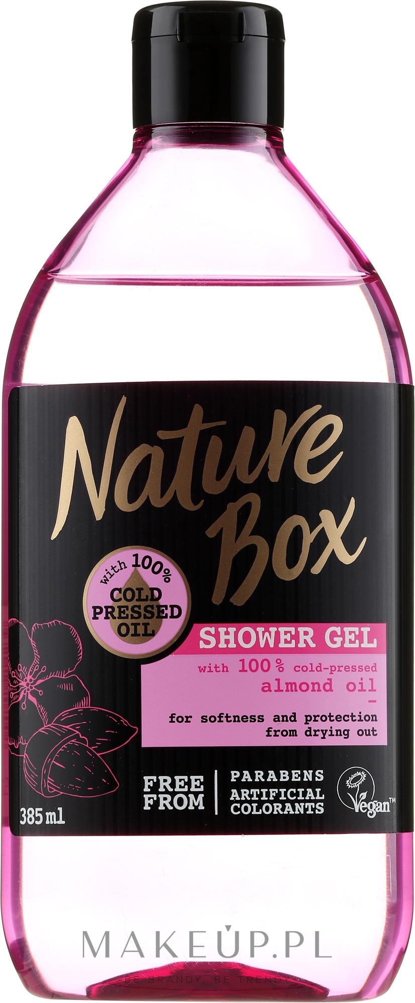 Pielęgnacyjny żel pod prysznic z olejem z migdałów - Nature Box Almond Oil Shower Gel — фото 385 ml