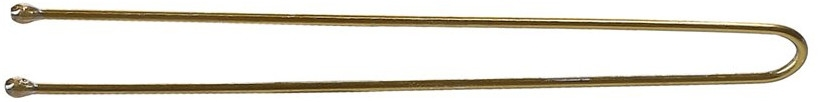 Wsuwki do włosów, proste, złote - Lussoni Hair Pins 6.5 cm  — фото N1