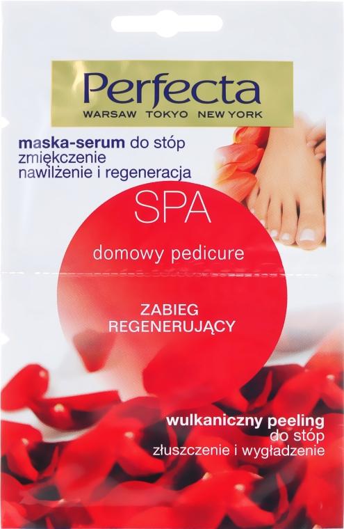 Pedicure pielęgnacyjny: zmiękczająca maska-serum + wulkaniczny peeling do stóp - Perfecta Spa