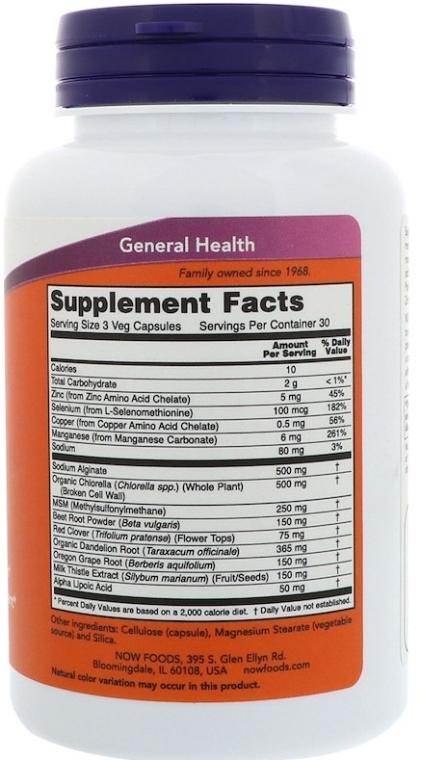 Wegańskie kapsułki wspomagające oczyszczanie organizmu - Now Foods Detox Support — фото N3